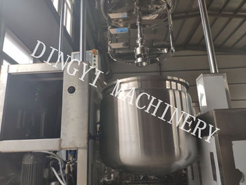 HMI Control Cosmetic Cream Mixers / Hydraulic Lifting Lotion Mixer Machine